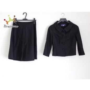 エムズグレイシー M'S GRACY スカートスーツ サイズ40 M レディース 美品 黒 新着 20190828