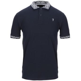 《期間限定セール開催中!》TRU TRUSSARDI メンズ ポロシャツ ダークブルー S コットン 97% / ポリウレタン 3%