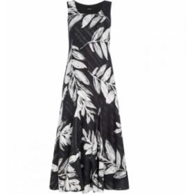 ローマン Roman Originals レディース ワンピース ワンピース・ドレス Leaf Print Bias Dress Black