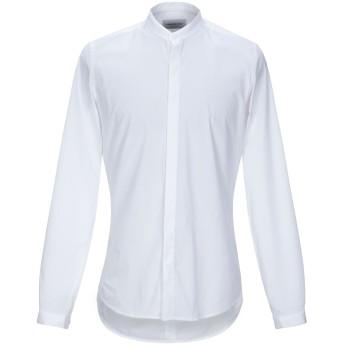 《セール開催中》HAMAKI-HO メンズ シャツ ホワイト S コットン 97% / ポリウレタン 3%