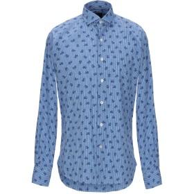 《期間限定セール開催中!》ORIAN メンズ シャツ ブルー 39 コットン 100%