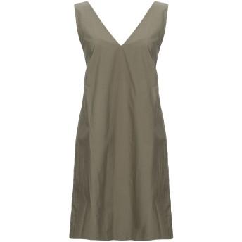 《セール開催中》GOTHA レディース ミニワンピース&ドレス ミリタリーグリーン 0 コットン 100%