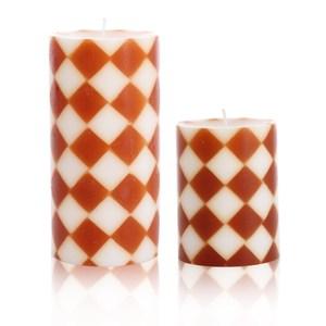 時尚菱格-檀香木香氛手工蠟燭組