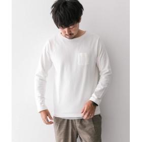 [サニーレーベル] tシャツ ポケット付きロングTシャツ メンズ ホワイト L