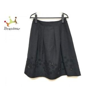 トゥービーシック TO BE CHIC スカート サイズ40 M レディース 美品 黒 フラワー/ビーズ 新着 20190828