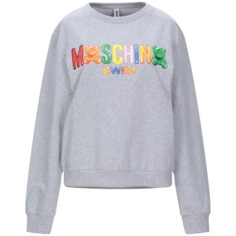《期間限定セール開催中!》MOSCHINO レディース スウェットシャツ ライトグレー XS コットン 95% / ポリウレタン 5%