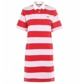 リーバイス Levis レディース ワンピース ワンピース・ドレス StripeRugbyDrs Lady Pink/B Red