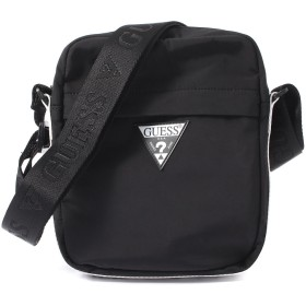 ゲス GUESS TRIANGLE LOGO BODY BAG (BLACK)