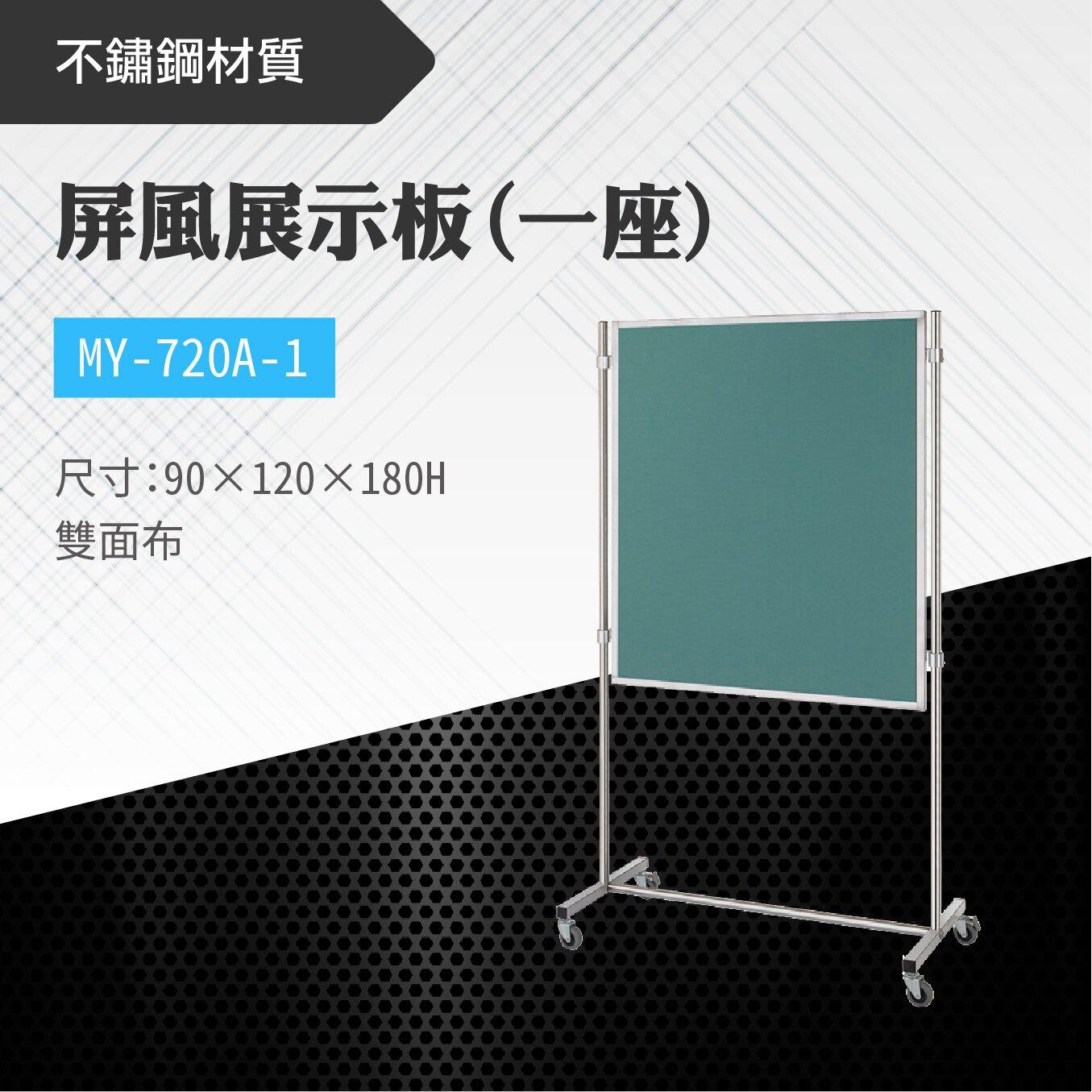 台灣製 屏風展示板MY-720A-1(雙面布) 布告欄 展板 海報板 立式展板 展示架 指示牌 廣告板 標示板 學校 活動