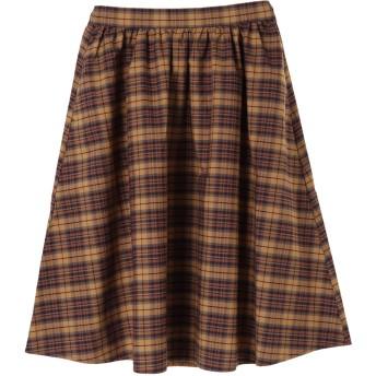 【5,000円以上お買物で送料無料】・秋色ミディアムフレアスカート