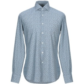 《期間限定セール開催中!》GLANSHIRT メンズ シャツ ブルーグレー 38 コットン 100%