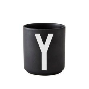 Design Letters 字母骨瓷杯黑 Y