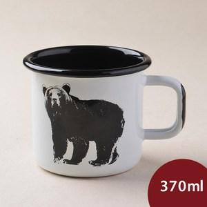 Muurla 北歐琺瑯馬克杯 熊 370ml