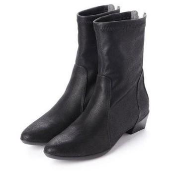 フィットフィット fitfit ポインテッドミドルブーツ (ブラック)