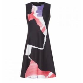 ダナ キャラン ニューヨーク DKNY レディース ワンピース ワンピース・ドレス FitFlr ColBlkDrs Hot Pink