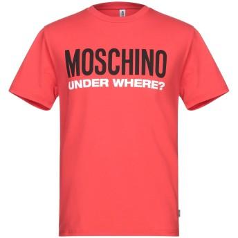 《9/20まで! 限定セール開催中》MOSCHINO メンズ アンダーTシャツ レッド XS コットン 92% / ポリウレタン 8%