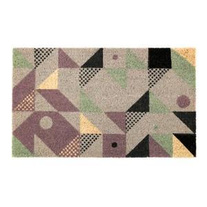 HOLA 椰鬃刮泥墊45x75cm 幾何