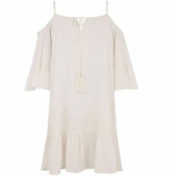 オアシス Oasis レディース ワンピース ワンピース・ドレス Cold Shoulder Cover Up White