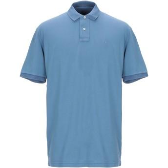 《期間限定セール開催中!》GRAN SASSO メンズ ポロシャツ ブルーグレー 56 コットン 100%