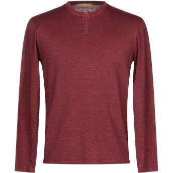 《セール開催中》DANIELE FIESOLI メンズ T シャツ ボルドー XL 麻 96% / ポリウレタン 4%