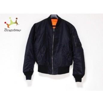 アルファ ALPHA INDUSTRIES ダウンジャケット メンズ 黒×オレンジ リバーシブル/冬物 新着 20190828