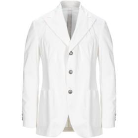 《期間限定セール開催中!》GABRIELE PASINI メンズ テーラードジャケット ホワイト 50 コットン 98% / ポリウレタン 2%