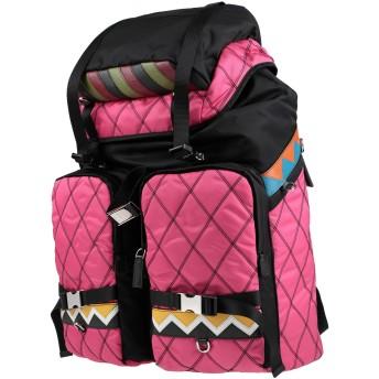 《期間限定セール開催中!》PRADA レディース バックパック&ヒップバッグ フューシャ 紡績繊維