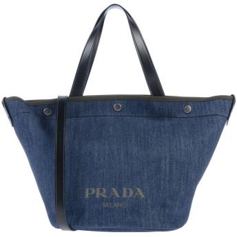 《9/20まで! 限定セール開催中》PRADA レディース ハンドバッグ ブルー 紡績繊維 / 牛革(カーフ)