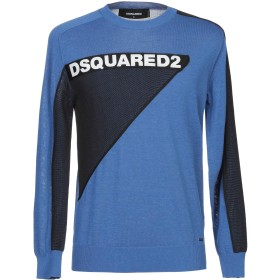 《セール開催中》DSQUARED2 メンズ プルオーバー ブルー XS コットン 80% / ポリエステル 20%