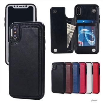 iPhoneケース iPhoneXR iPhone8 iPhone7 iPhoneXS Max スマホ 携帯 ケース カバー 合革 レザー 多機能 画面割れ防止 両面 ポケット付き