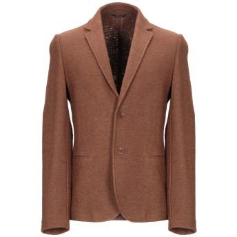 《期間限定 セール開催中》DANIELE ALESSANDRINI HOMME メンズ テーラードジャケット ブラウン 48 レーヨン 70% / ウール 30%