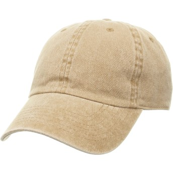 [ニューハッタン] PIGMENT DYED COTTON BASEBALL CAPS NHN1201 KHAKI US F (FREE サイズ) [並行輸入品]