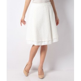 【60%OFF】 エリザ リントンテープツィードスカート レディース オフホワイト 3号(11号) 【ELISA】 【セール開催中】