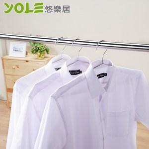 【YOLE悠樂居】45cm不鏽鋼嚴選衣架(18入)#1225009