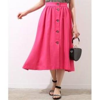 【otonaMUSE5月号掲載】フロントボタンギャザースカート【お取り寄せ商品】