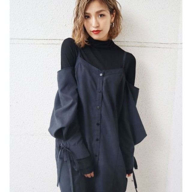 EMODA エモダ スウィッチングシャツトップ
