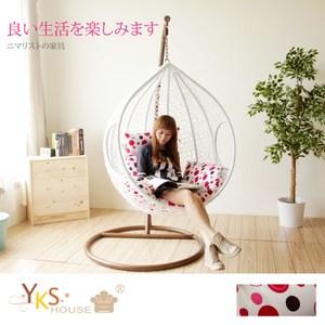 【YKSHOUSE】樂活點點單人休閒吊籃椅吊籃椅