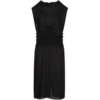 《セール開催中》ANN DEMEULEMEESTER レディース 7分丈ワンピース・ドレス ブラック 34 レーヨン 100%
