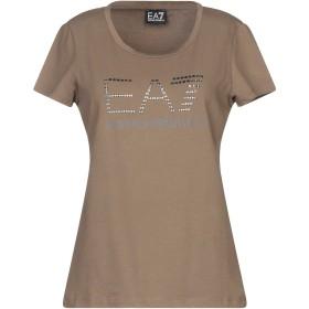 《期間限定セール開催中!》EA7 レディース T シャツ カーキ S コットン 85% / ポリエステル 10% / ポリウレタン 5%