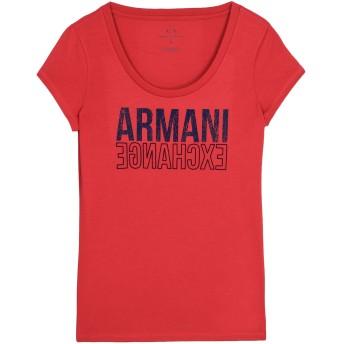 《9/20まで! 限定セール開催中》ARMANI EXCHANGE レディース T シャツ レッド XS コットン 50% / ポリエステル 50%