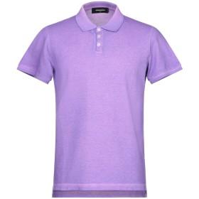 《期間限定セール開催中!》DSQUARED2 メンズ ポロシャツ ライトパープル XS コットン 100%