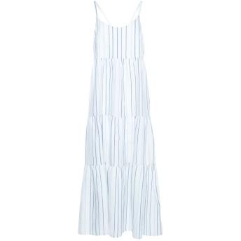 《セール開催中》PAOLO CASALINI レディース ロングワンピース&ドレス ホワイト S 麻 50% / コットン 40% / ポリエステル 10%