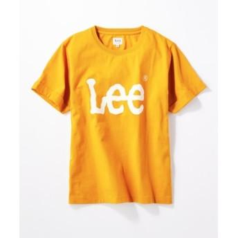 Lee ロゴプリント入りクルーネックTシャツ レディース ダークイエロー