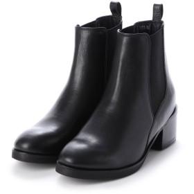 エーシーデザイン バイ アルファキュービック ALPHA CUBIC glitter 本革 サイドゴアショートブーツ (ブラック)