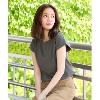 ソーシャルガール Social GIRL ピグメントロールアップTシャツ (スミクロ)