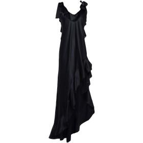 《期間限定セール開催中!》MESSAGERIE レディース ミニワンピース&ドレス ブラック 40 シルク 93% / ポリウレタン 7%