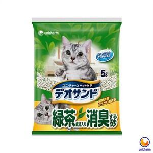 Unicharm 日本消臭大師消臭礦砂綠茶香 5LX4包