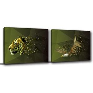 24mama掛畫-二聯式 現代風動物無框畫 30x40cm