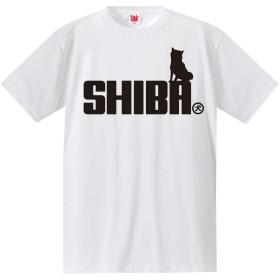 Tシャツ 柴犬 【おすわり】【白T】【M】/C6/