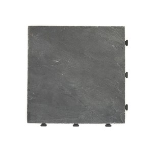 特力屋拼接踏板-板岩黑30x30cm